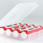 4x - 18650 Battery Clear Case