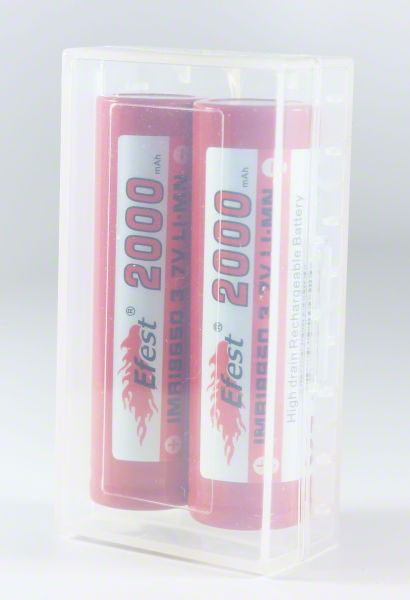 2x - 18650 Battery Clear Case