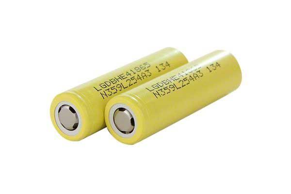 LG HE4 20A 18650 Li Ion 2500 mAh Battery - 2 Pack