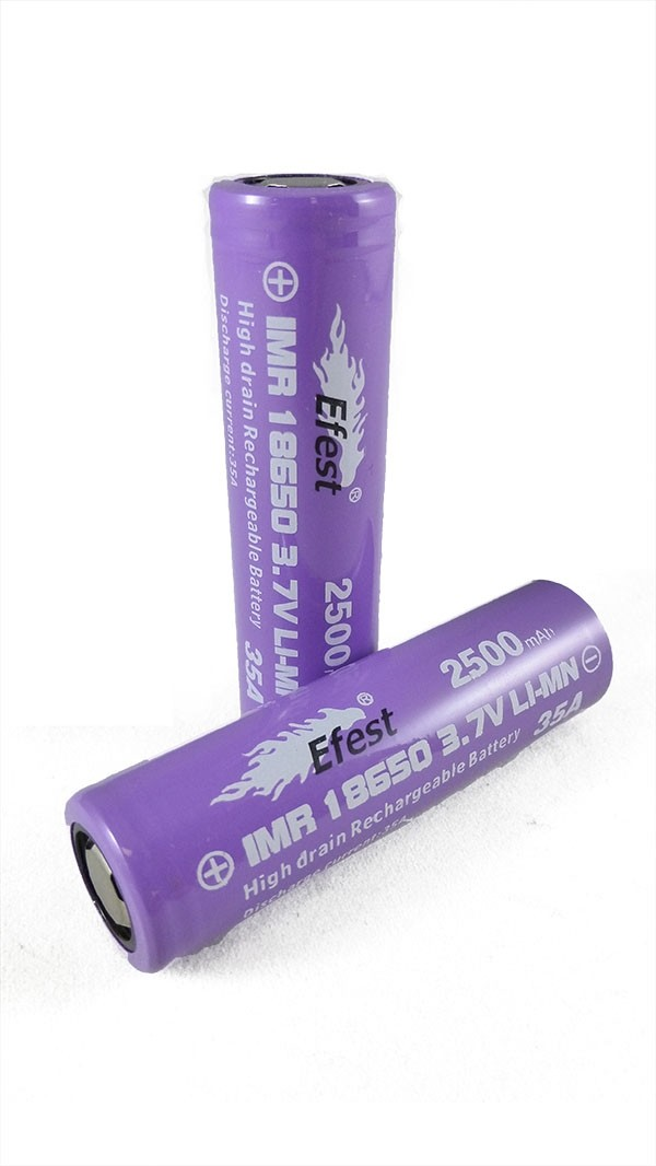 Efest IMR 35A 18650 Flat Top Battery 2500 mAh - 2 Pack
