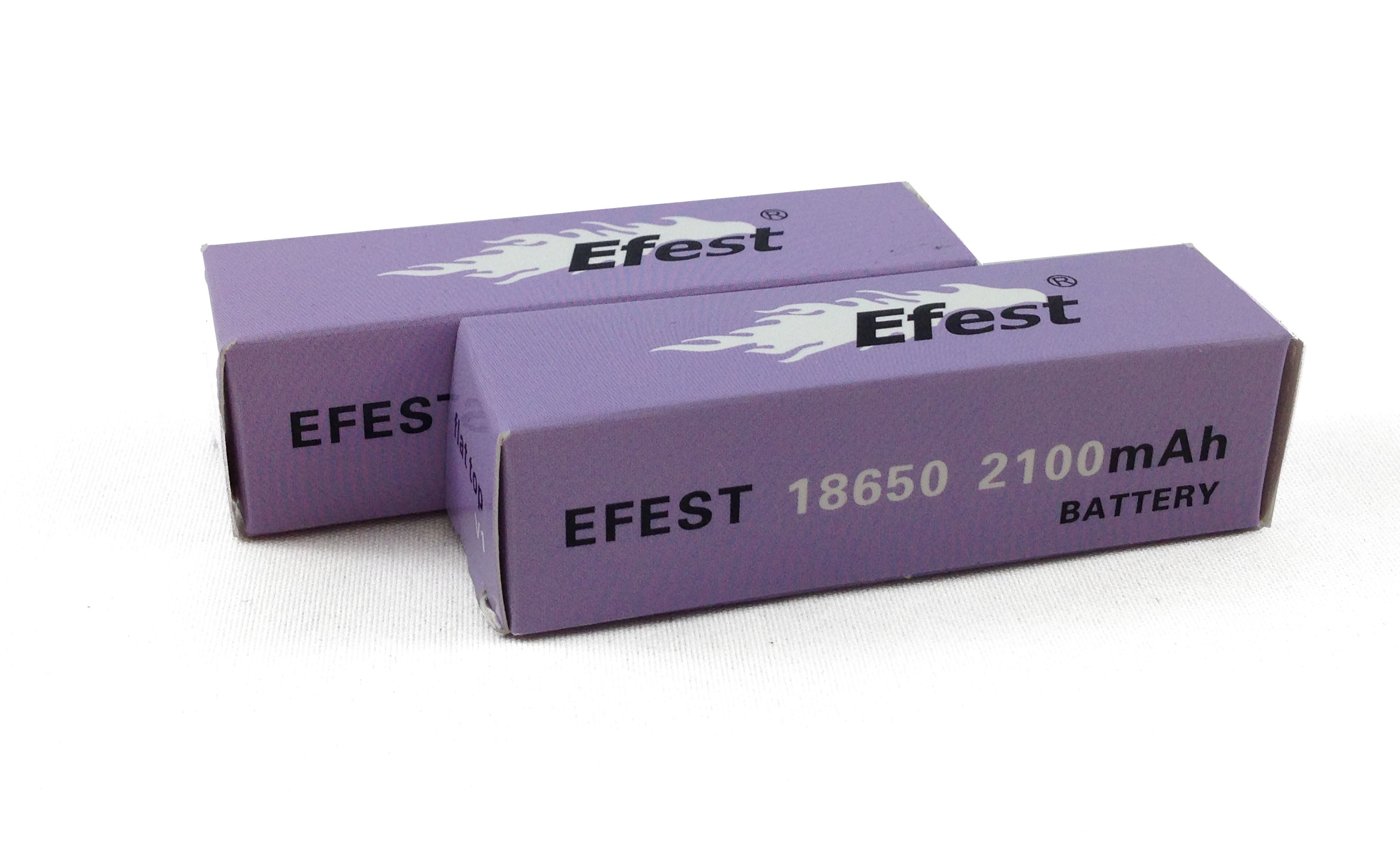 Efest IMR 30A 18650 Flat Top Battery 2100 mAh - 2 Pack