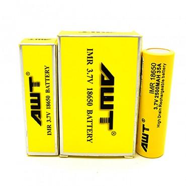AWT-18650-35A Battery 2pk-2500mah-Yellow