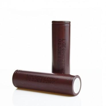 LG INR HG2 18650 20A 3000mah (2 Pack - Brown)
