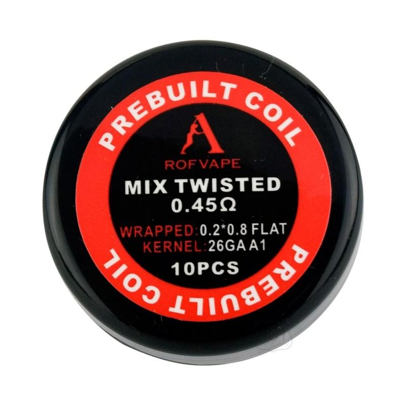Rofvape Mix Twisted Prebuilt Coils 0.45ohm - 10pcs/pack