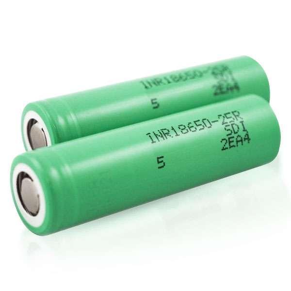 Samsung 25R 18650 2500mAh 20A Battery (2-Pack)
