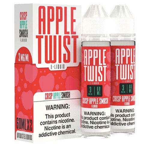 Apple Twist E-Liquids - Crisp Apple Smash - 2x60ml / 3mg