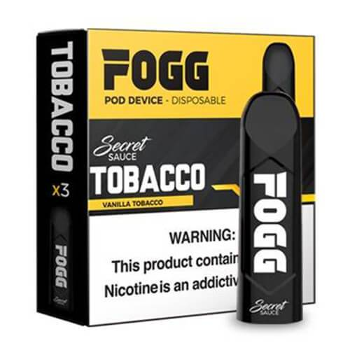 FOGG Vape - Ultra Portable and Disposable Device - Tobacco - 3 Pack / 50mg