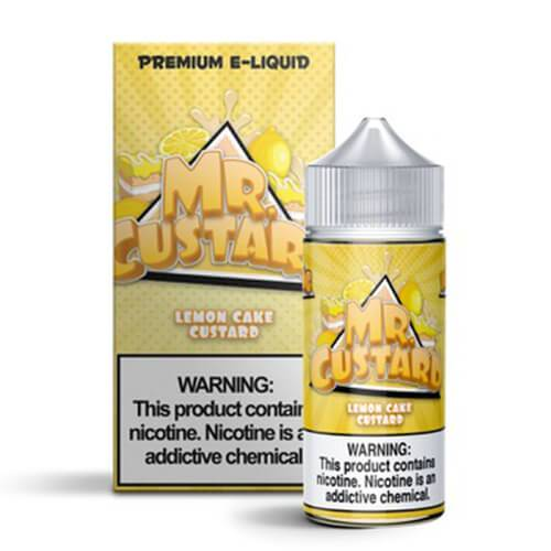 Mr. Custard Premium E-Liquid - Lemon Cake Custard - 100ml / 3mg