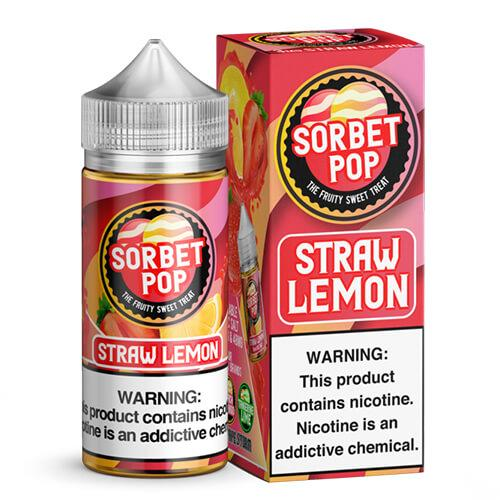 Sorbet Pop eJuice - Straw-Lemon Sorbet - 100ml / 0mg