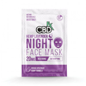 CBDfx Lavender Hemp Night Time Face Mask
