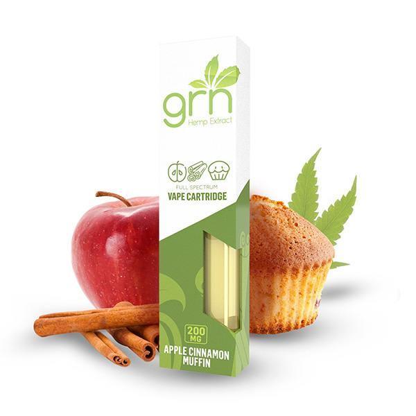 GRN CBD Apple Cinnamon CBD Vape Cartridge