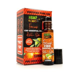 Hemp Bombs CBD Essential Oil Roller - Focus Blend